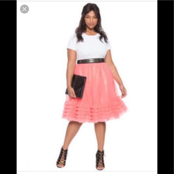 0868e8ad5 Eloquii Dresses & Skirts - Eloquii ruffle tulle skirt( sale)